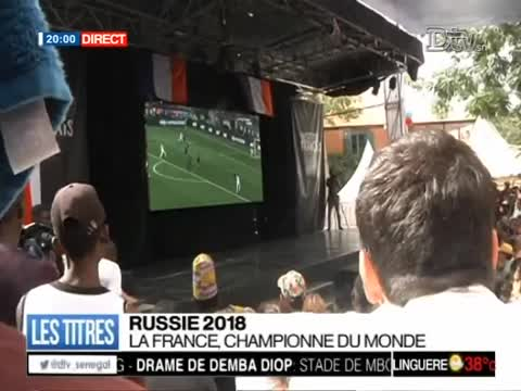 JT Français 20h  du dimanche 15 juil. 2018